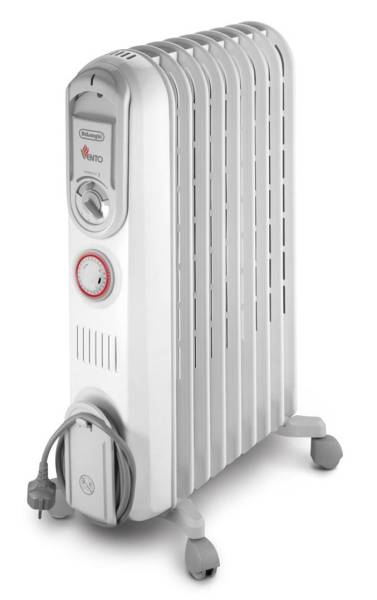 DeLonghi VENTO V550920T 2000W Oil Radiant Heater with Timer