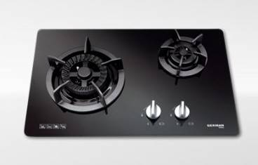 German Pool GP12-2M Twin-Burner Gas Hob (TownGas or LP Gas)
