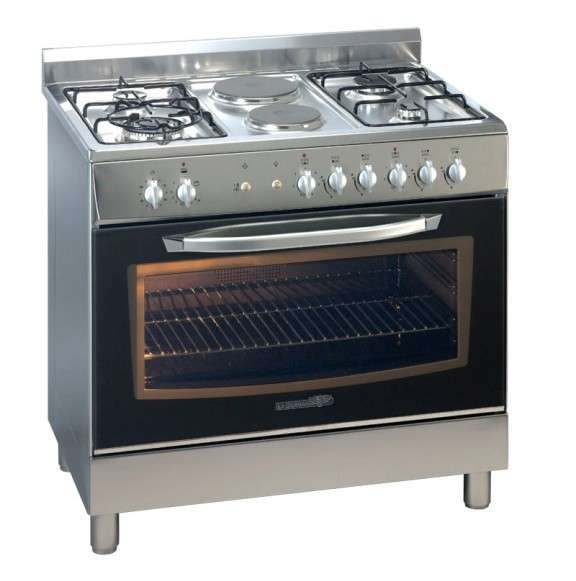 La Germania D98271W Dual Fuel Cooker with Oven