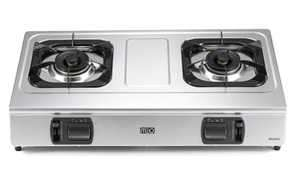 MEO MUZH21 Gas Double Burner Hotplate