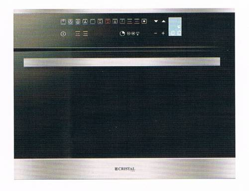 Cristal ESSENCE 45 ST 34-Litre Built-in Steam Oven with Grill (Made in Italy)
