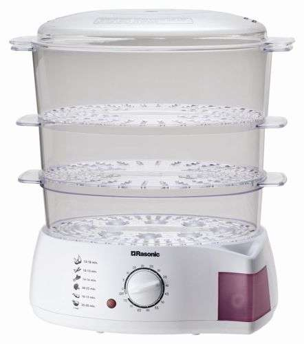 Rasonic RFS-JP3 Triple-tier Food Steamer
