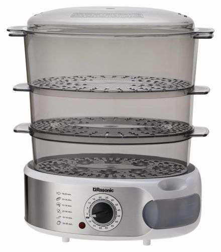 Rasonic RFS-JS3 Triple-tier Food Steamer