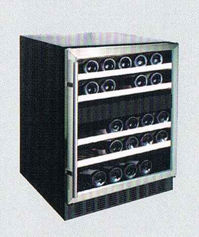 CRISTAL CW-45DES 45-Bottle Dual-Zone Wine Cellar
