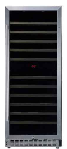 White-Westinghouse WC102DIX 102-Bottle Dual Zone Wine Cellar