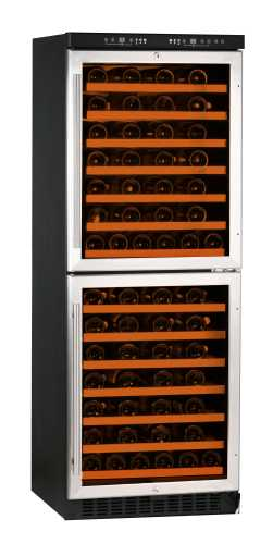 White-Westinghouse WC108DEX 108-Bottle Dual Zone Wine Cellar